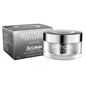 Buy Biotique Advanced BXL Cellular Anti Age Protection Cream SPF 30 UVA/UVB Sunscreen - Nykaa