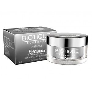 Buy Biotique Advanced BXL Cellular Protection Cream SPF 50 UVA/UVB Sunscreen - Nykaa