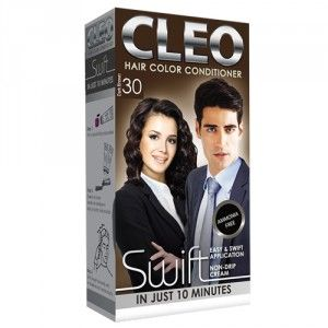 Buy Cleo Swift Hair Color Conditioner - Dark Brown 30 - Nykaa