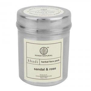 Buy Khadi Natural Sandal & Rose Herbal Face Pack - Nykaa