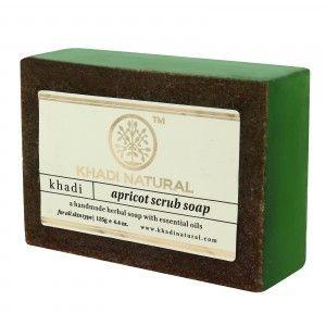 Buy Khadi Natural Apricot Scrub Soap - Nykaa