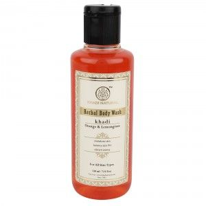 Buy Khadi Natural Orange & Lemongrass Herbal Body Wash - Nykaa