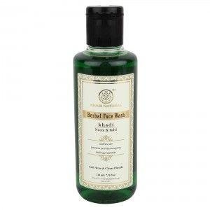 Buy Khadi Natural Neem & Tulsi Herbal Face Wash - Nykaa