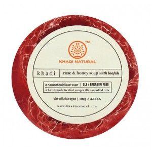 Buy Khadi Natural Rose & Honey Soap With Loofah - Nykaa