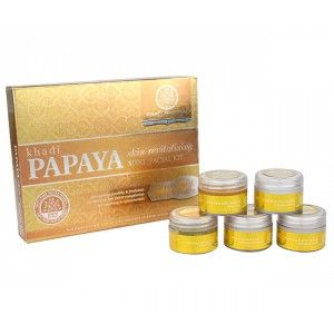 Buy Khadi Natural Papaya Mini Facial Kit - Nykaa