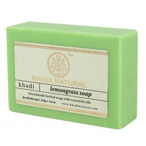 Buy Khadi Natural Lemongrass Soap - Nykaa