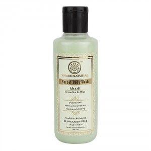 Buy Khadi Natural Green Tea & Mint Body Wash- SLS & Paraben Free - Nykaa