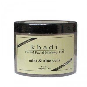 Buy Khadi Natural Facial Massage Gel Mint & Aloe Vera - Nykaa