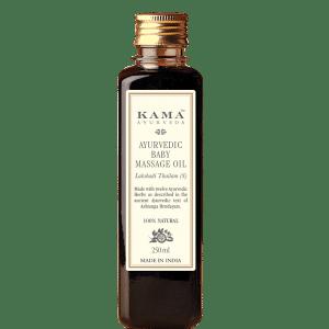 Buy Kama Ayurveda Ayurvedic Baby Massage Oil Lakshadi Thailam - Nykaa