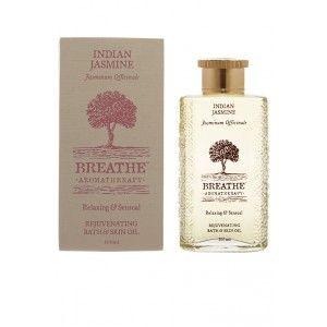 Buy Breathe Aromatherapy Indian Jasmine Bath And Skin Oil - Nykaa