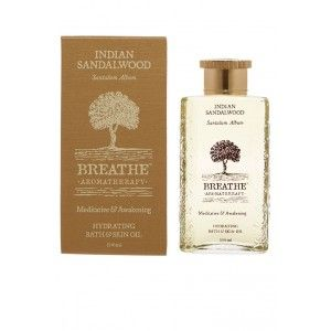 Buy Breathe Aromatherapy Indian Sandalwood Bath And Skin Oil - Nykaa