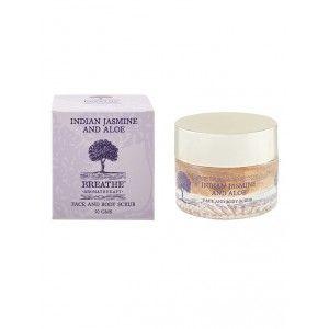 Buy Breathe Aromatherapy Indian Jasmine & Aloe Face & Body Scrub  - Nykaa