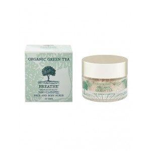 Buy Breathe Aromatherapy Organic Green Tea Face & Body Scrub - Nykaa