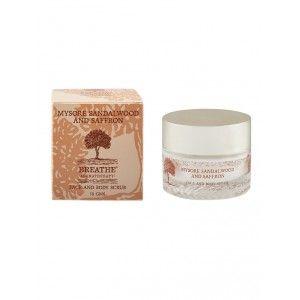 Buy Breathe Aromatherapy Mysore Sandalwood And Saffron Face & Body Scrub - Nykaa