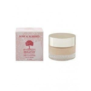 Buy Breathe Aromatherapy Rose And Almond Face Mask - Nykaa