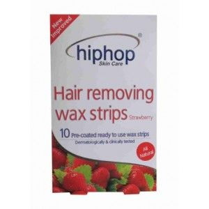 Buy HipHop Strawberry Hair Removing Wax Strips - Nykaa