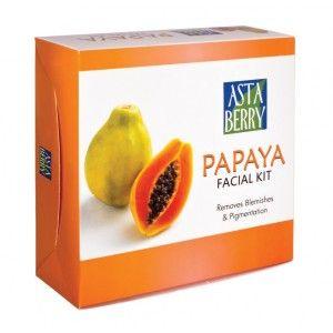 Buy Astaberry Papaya Facial Kit (12 Facial) - Nykaa