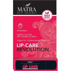 Buy Matra 100% Natural Lip Balm Strawberry, SPF & Moroccan Gold Infused - Nykaa