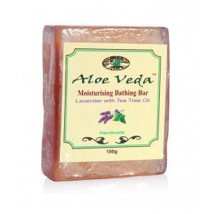 Buy Aloe Veda Moisturising Bathing Bar - Lavender With Tea Tree Oil - Nykaa