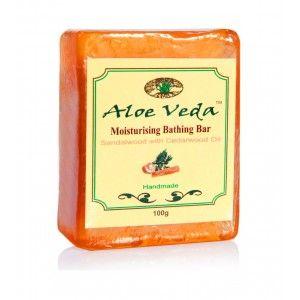 Buy Aloe Veda Moisturising Bathing Bar - Sandalwood With Cedarwood Oil - Nykaa