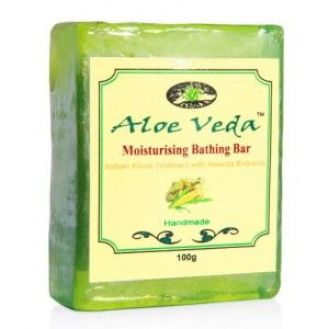 Buy Aloe Veda  Moisturising Bathing Bar - Indian Khus (Vetiver) with Kewda Extracts - Nykaa
