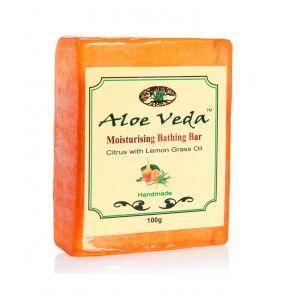 Buy Aloe Veda  Moisturising Bathing Bar - Citrus with Lemon Grass Oil - Nykaa