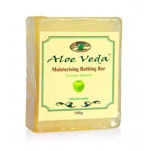 Buy Aloe Veda  Moisturising Bathing Bar - Green Apple - Nykaa