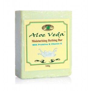 Buy Aloe Veda  Moisturising Bathing Bar - Milk Proteins with Vitamin E - Nykaa