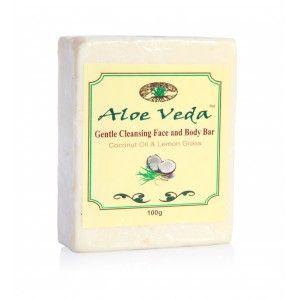 Buy Aloe Veda  Moisturising Bathing Bar - Coconut Oil and Lemongrass - Nykaa