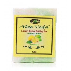 Buy Aloe Veda  Luxury Butter Bar - Tulsi & Lemon - Nykaa