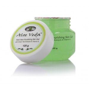 Buy Aloe Veda Nourishing Aloe Vera Skin Gel With Green Tea Extracts & Vitamin E Beads - Nykaa