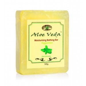Buy Aloe Veda  Moisturising Bathing Bar – Peppermint - Nykaa