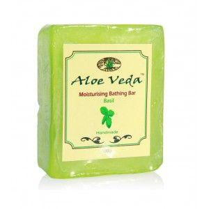 Buy Aloe Veda  Moisturising Bathing Bar - Basil - Nykaa