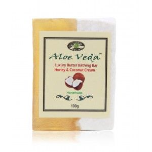 Buy Aloe Veda  Luxury Butter Bathing Bar - Honey & Coconut Cream - Nykaa