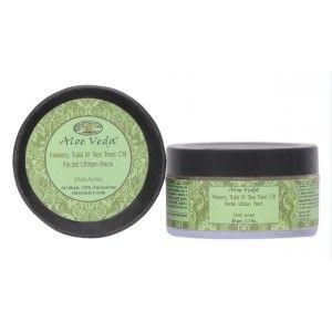 Buy Aloe Veda Neem, Tulsi & Tea Tree Oil Facial Ubtan Pack (anti acne) - Nykaa