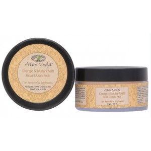 Buy Aloe Veda  Orange & Multani Mitti Facial Ubtan Pack (Tan Removal & Brightness) - Nykaa