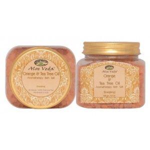 Buy Aloe Veda  Aromatherapy Bath Salt - Orange & Tea Tree Oil (energising) - Nykaa