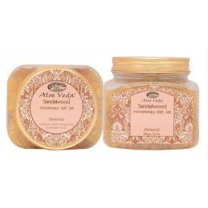 Buy Aloe Veda  Aromatherapy Bath Salt - Sandalwood (sensuous) - Nykaa