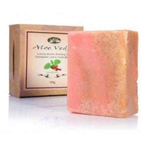 Buy Aloe Veda  Luxury Butter Bathing Bar - Cinnamon & Fresh Mint - Nykaa