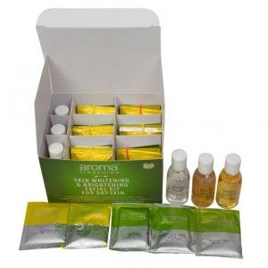 Buy Aroma Treasures Skin Whitening & Brightening Facial Kit For Dry Skin + Free Argan Liquid Gold Hair Spa - Nykaa