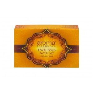Buy Aroma Treasures Royal Gold Facial Kit For Oily Skin - Single Time - Nykaa