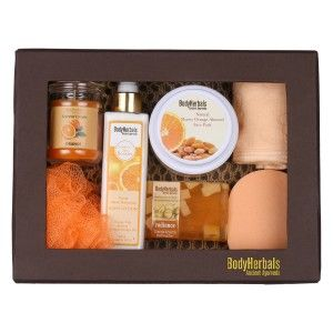 Buy BodyHerbals Natural Orange Skin Care Set  - Nykaa