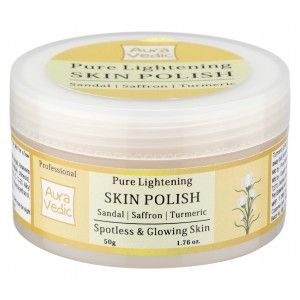 Buy Auravedic Professional Pure Lightening Skin Polish With Sandal / Turmeric - Nykaa