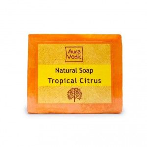 Buy Auravedic Natural Soap Tropical Citrus - Nykaa