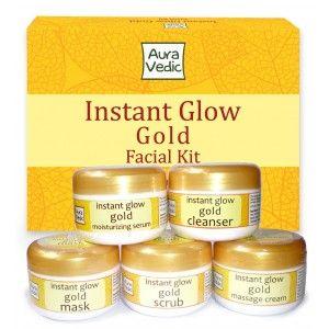Buy Auravedic Instant Glow Gold Kit - Nykaa