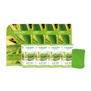 Buy Vaadi Herbals Value Pack Of 4 Aloe Vera Facial Bars - Nykaa