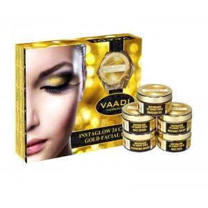 Buy Vaadi Herbals Instaglow 24 Carat Gold Facial Kit - Nykaa