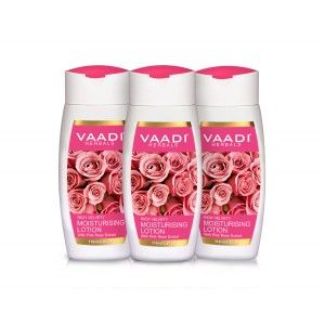 Buy Vaadi Herbals Value Pack Of  3 Moisturising Lotion With Pink Rose Extract - Nykaa