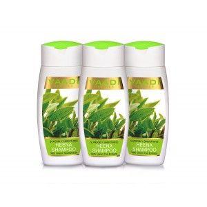 Buy Vaadi Herbals Value Pack Of  3 Superbly Smoothing Heena Shampoo With Green Tea Extracts - Nykaa