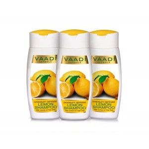 Buy Vaadi Herbals Value Pack Of  3 Dandruff Defense Lemon Shampoo With Extract Of Tea Tree - Nykaa